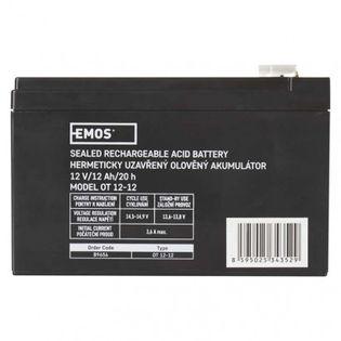 Akumulator AGM 12V 12Ah faston 6,3