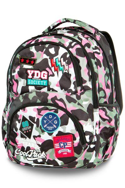 Plecak szkolny CoolPack Dart XL 27 L, Camo Pink Badges A29112 zdjęcie 1
