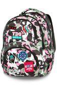 Plecak szkolny CoolPack Dart XL 27 L, Camo Pink Badges A29112