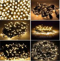 4x LAMPKI NA CHOINKĘ 100 LED BIAŁE CIEPŁE!