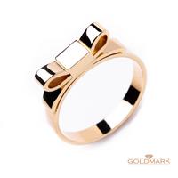 Pozłacany Srebrny Pierścionek z kolekcji Loop  [LC-003] ROZMIAR - 26