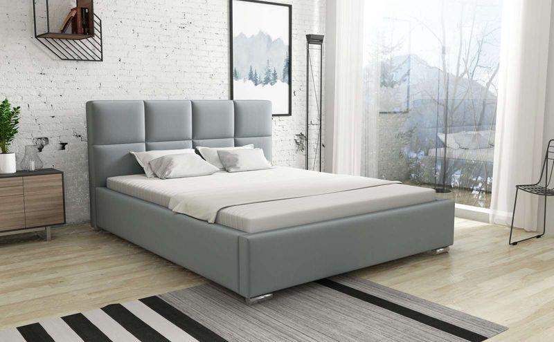 Łóżko do sypialni tapicerowane 140x200 Alaska zdjęcie 2