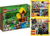 LEGO MINECRAFT 21144 WIEJSKA CHATKA + 2 KATALOGI LEGO