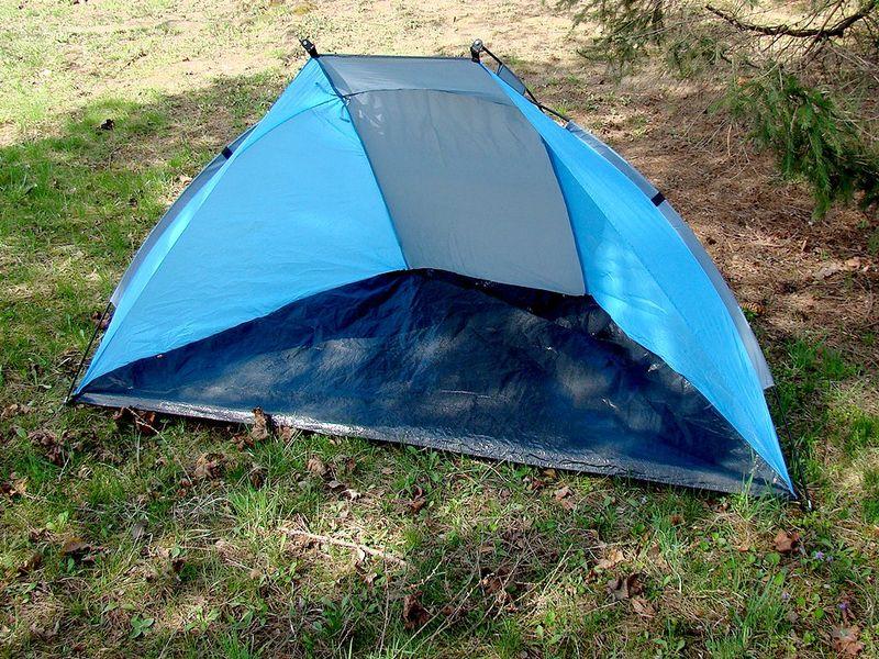 Duży namiot plażowy parawan wiatrochron + zestaw zdjęcie 9