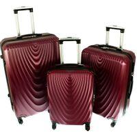 Zestaw 3 walizek PELLUCCI RGL 663 Bordowe