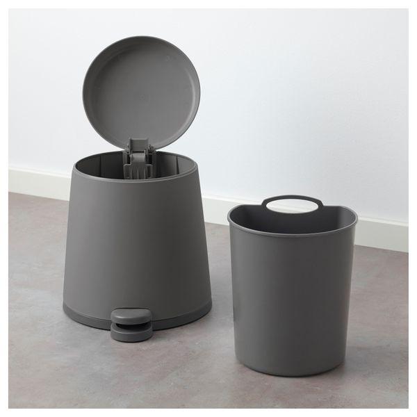 Ikea Snapp Kosz Na Odpady Szary 5l