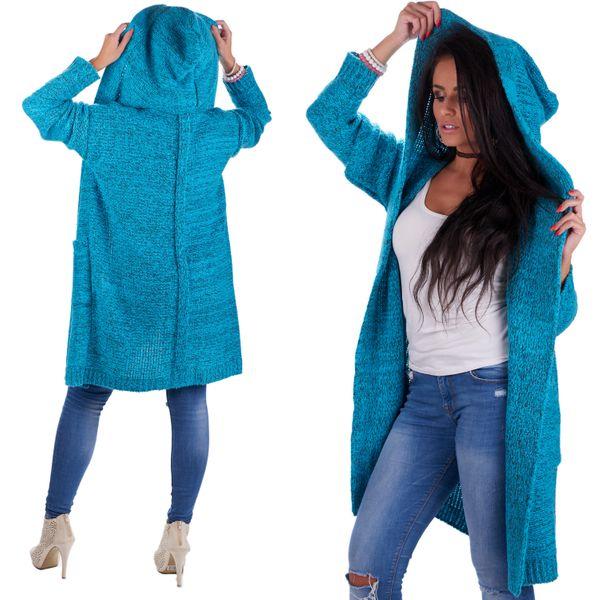 Mięciutki otulający Kardigan sweter melanż 103 zdjęcie 1
