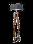 Lampa podłogowa z drewnianym stelażem JAWA E27 prostokątny abażur