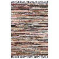 Ręcznie tkany dywanik Chindi, skóra, 190x280 cm, wielokolorowy