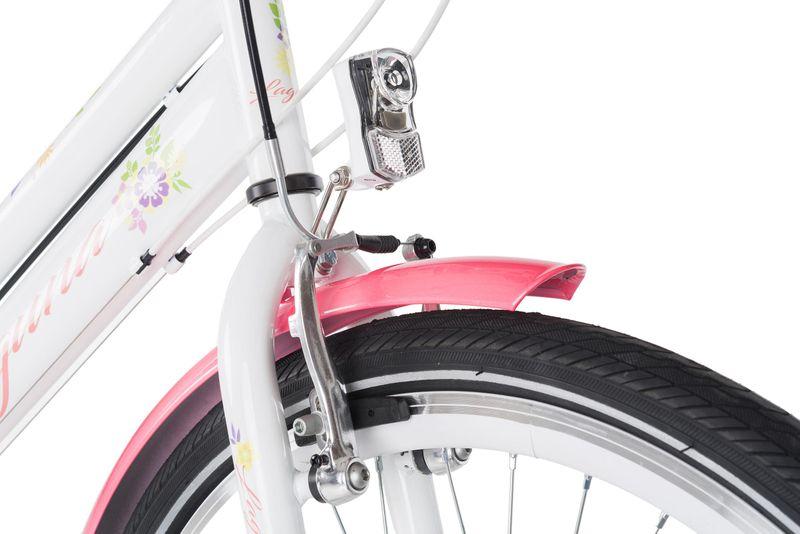 Rower 24 KANDS LAGUNA VS-2 stożek biało-różowy zdjęcie 3