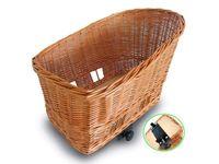 Kosz na tylny bagażnik BASIL PASJA dla zwierząt 50cm + SENNA system clamp device, wiklinowy varnished natural