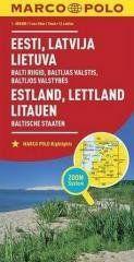 Mapa ZOOM System.Estonia,Łotwa,Litwa plan miasta praca zbiorowa