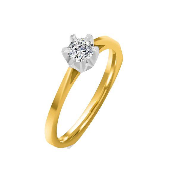 Pierścionek zaręczynowy z BRYLANTEM 0,20 ct Si1/H zdjęcie 2