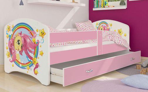Łóżko 160x80 LUCKY szuflada + materac
