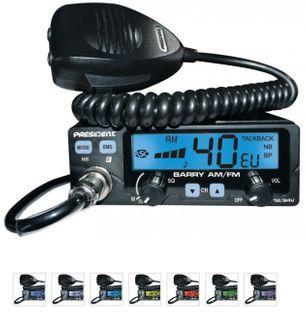 PRESIDENT BARRY ASC RADIO CB AM/FM 12/24V 7kolorów FV23% GWAR PL 5 lat