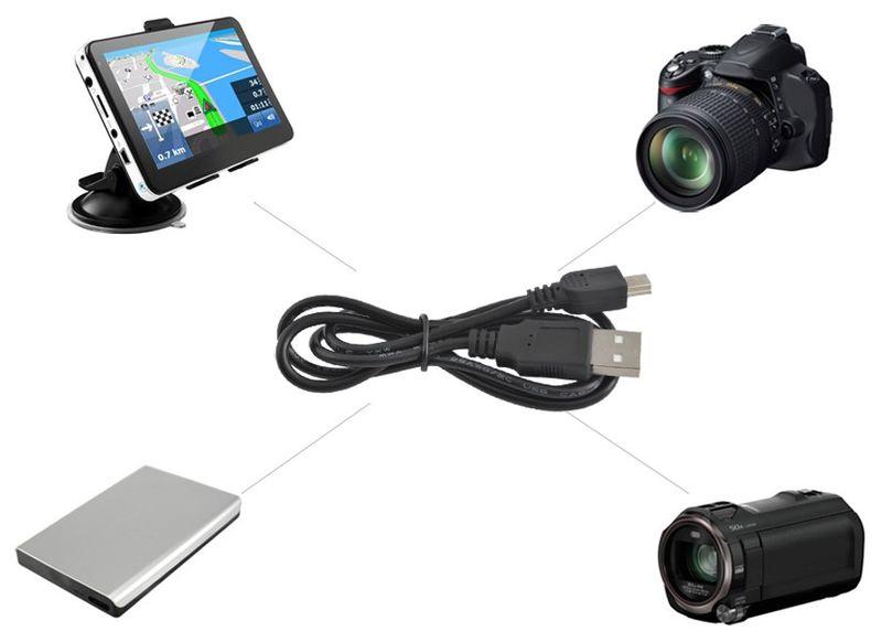 Kabel Mini USB Uniwersalny Aparat Navi Ładowanie 3038 zdjęcie 5