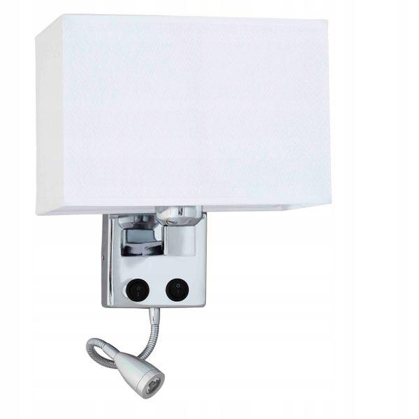 Kinkiet lampa ścienna z abażurem Nina LED do czytania  E27 Wobako na Arena.pl