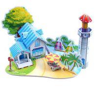Puzzle Grube Tekturowe 3D Edukacyjne Dzieci Mocne