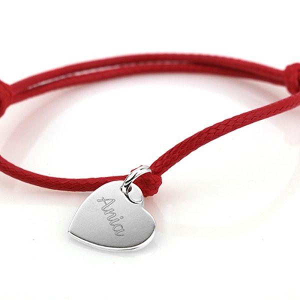 Srebrne SERCE bransoletka PREZENT na WALENTYNKI zdjęcie 5