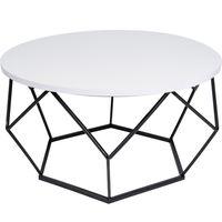 Stolik kawowy geometryczny Diament w kolorze biało-czarnym, śr. 70