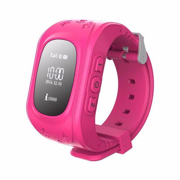Zegarek KIDS SMARTWATCH dla dzieci lokalizator GPS SIM kolor różowy zdjęcie 1