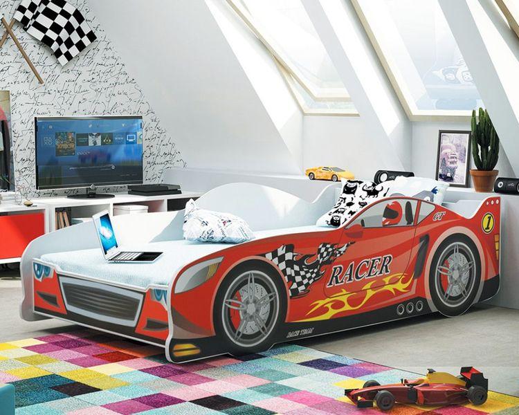Łóżko AUTO dla dzieci CARS 160x80 + STELAŻ GRATIS zdjęcie 3