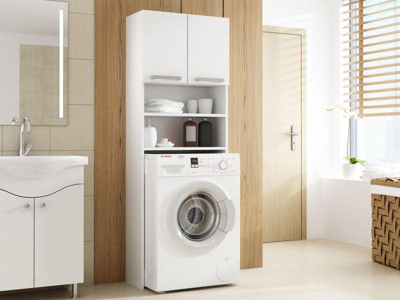 Szafka łazienkowa nad pralkę biel zdjęcie 1
