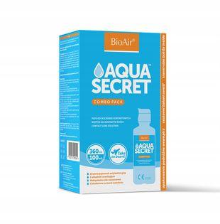 Płyn do soczewek BioAir Aqua Secret 360ml + 100ml