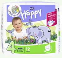 Bella Baby   Pieluszki Jednorazowe Happy- 4 Maxi 8-18 Kg -12 Sztuk