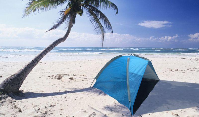 Duży namiot plażowy parawan wiatrochron + zestaw zdjęcie 11
