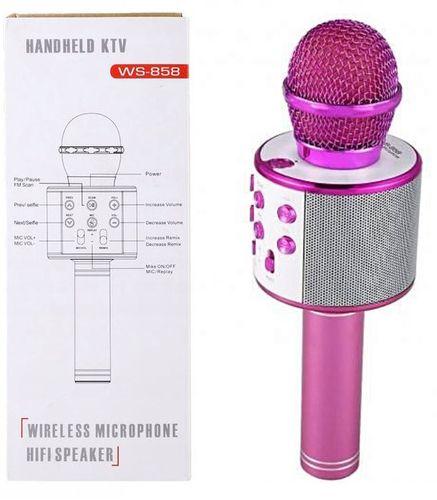 Mikrofon bezprzewodowy Bluetooth Głośnik  Karaoke RÓŻOWY G242P na Arena.pl