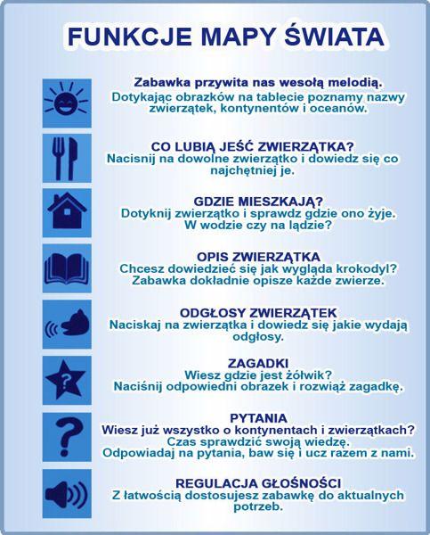 Mapa świata - edukacyjny tablet dla dzieci – język polski zdjęcie 5