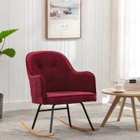 Fotel bujany winna czerwień tapicerowany aksamitem VidaXL