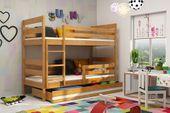 Łóżko piętrowe Eryk 200x90 dla dzieci drewniane meble dziecięce zdjęcie 5