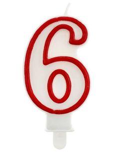 Świeczka na tort cyferka cyfry 6,1,2,3,4,5,7,8,9,0