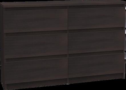 Komoda Pari 6 szuflad 120cm WENGE