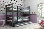 Łóżko piętrowe Eryk 200x90 dla dzieci drewniane meble dziecięce zdjęcie 8