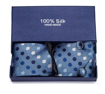 Krawat Poszetka Spinki Komplet Prezent