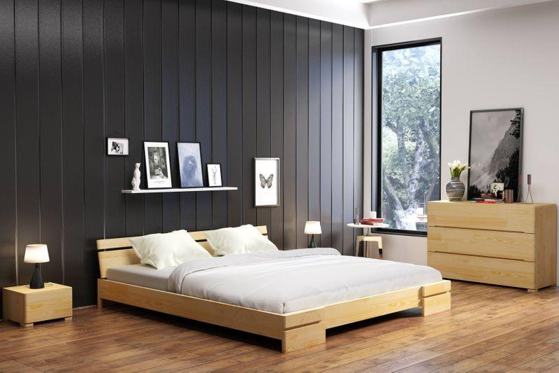 łóżko Z Litego Drewna Sosnowego Sparta Long Rozmiarówka 90 200x220