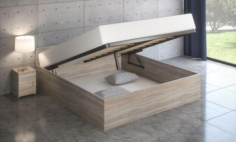łóżko 160x200 Stelaż Podnoszony Materac S