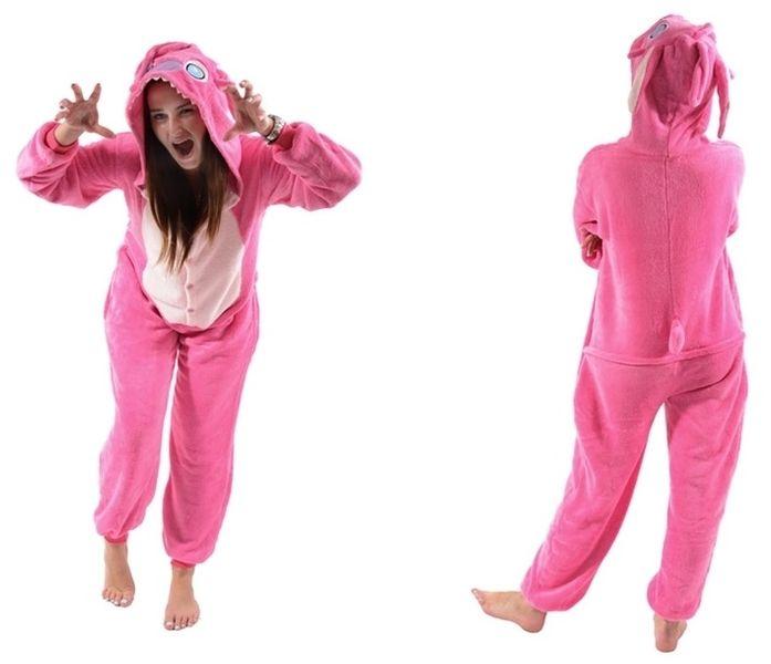 5f1f3450a955d4 KIGURUMI kigu ONESIE Pink Stitch PIŻAMA kostium S 150-160 cm • Arena.pl