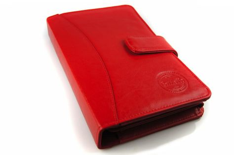 Skórzany futerał na stetoskop i recepty Cartello W613 Kolor Czerwony