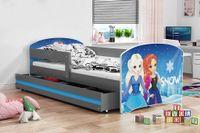 Łóżko łóżka Luki dla dzieci parterowe dziecko 160x80 + BARIERKA