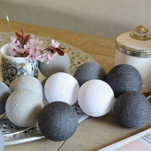 Girlanda Cotton Ball Balls 30 Kul 6 Cm Led Na Prąd Lampki