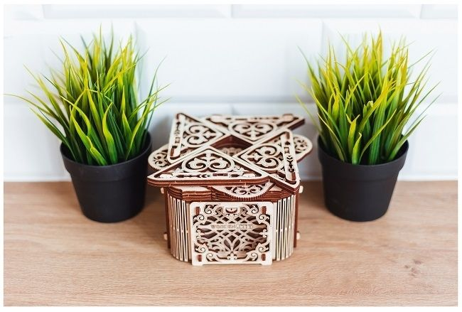 Drewniane puzzle mechaniczne 3D Wooden.City Mystery Box  #T1 na Arena.pl
