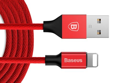 BASEUS USB lightning Długi kabel iPhone iPad 300cm - Czerwony na Arena.pl