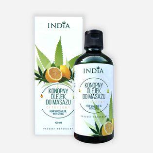 Olejek do masażu INDIA cytrusowy 100ml