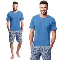 Piżama męska LUNA kod 730 niebieska [L]