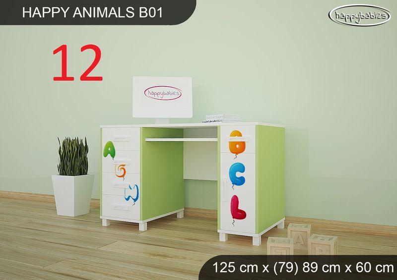BIURKO DZIECIĘCE  HAPPY ANIMALS B01 AM01 Zielone zdjęcie 14