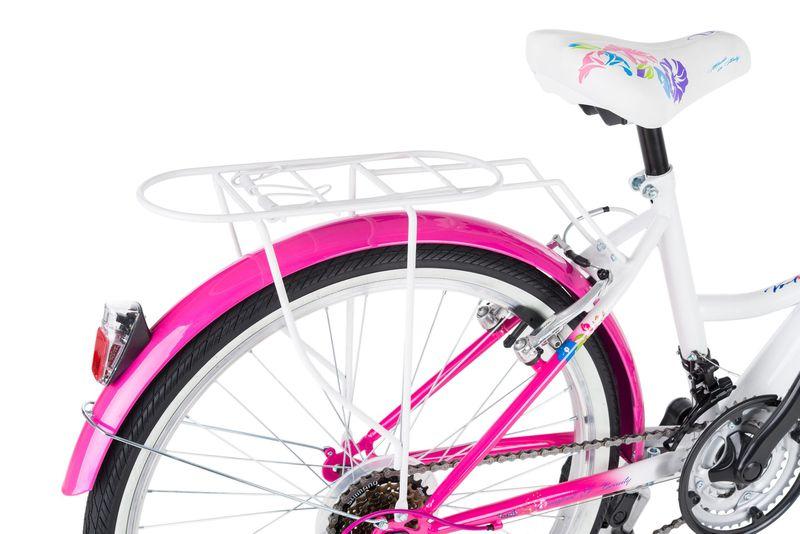 Rower 24 KANDS LAGUNA VS-1 ZWK biało-różowy zdjęcie 8